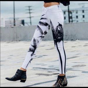 NWOT Hudson Nico skinny palm tree jeans
